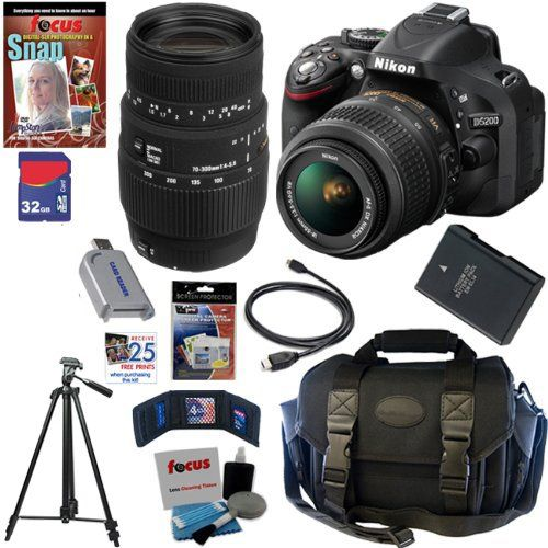Nikon D5200 Bundle 18 55mm With 55 300mm Only 884 00 At Http Loveacu Com Nikon D5200 Bundle 18 55mm With 55 30 Digital Slr Camera Camera Nikon Digital Slr