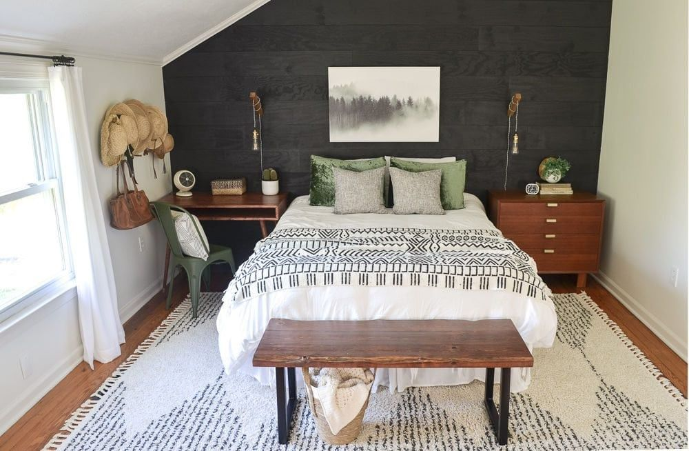 [Room Reveal] Guest Bedroom Makeover on a Small Budget #modernrusticbedroom