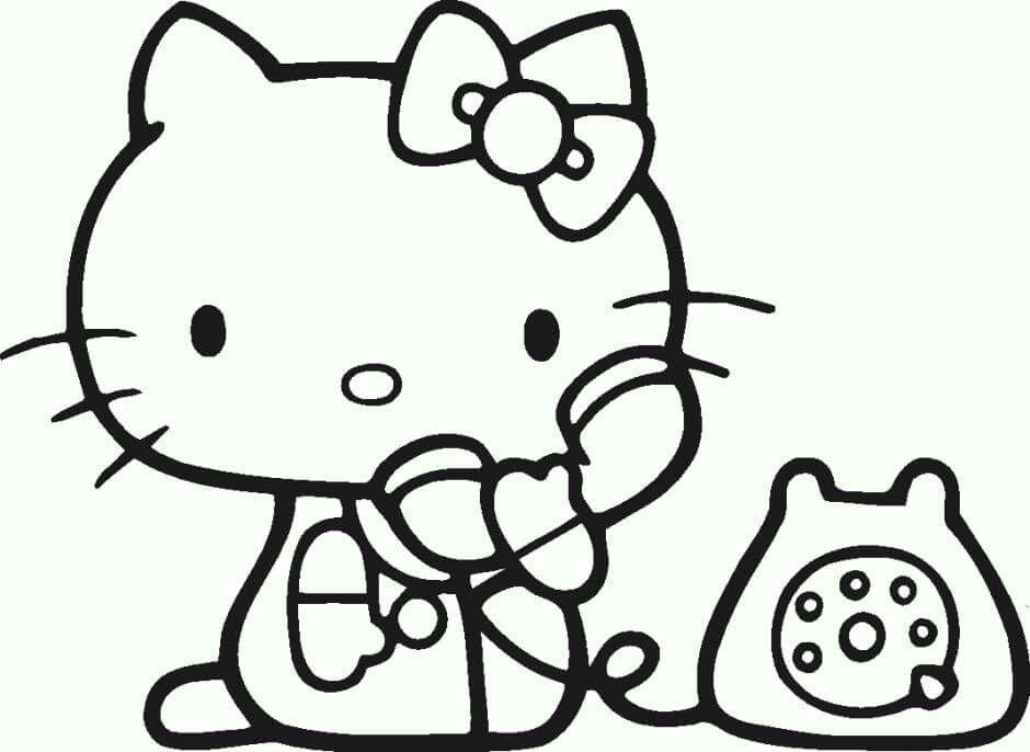 Hello Kitty Ausmalbilder Hello Kitty Coloring Pages 1 Coloring ... | 686x940