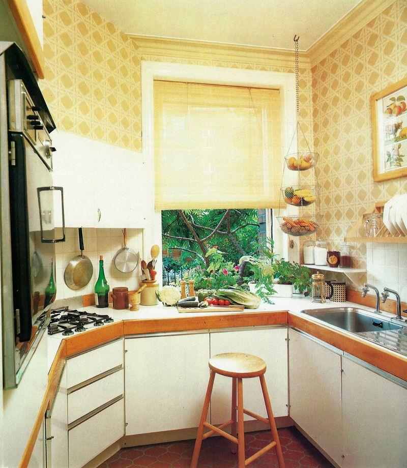 Mary Gilliatt ©1981 Kitchen wallpaper, Retro kitchen