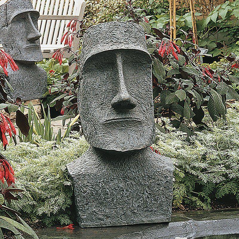 Easter Island Ahu Akivi Moai Monolith Garden Statue Easter