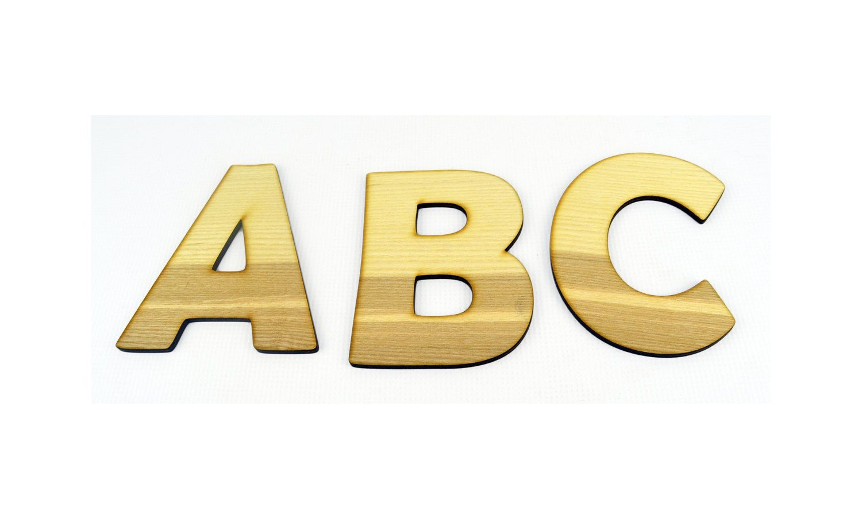 Ash Veneer XXL Alphabet Wood Letters / Wall Hanging / Nursery Decor ...