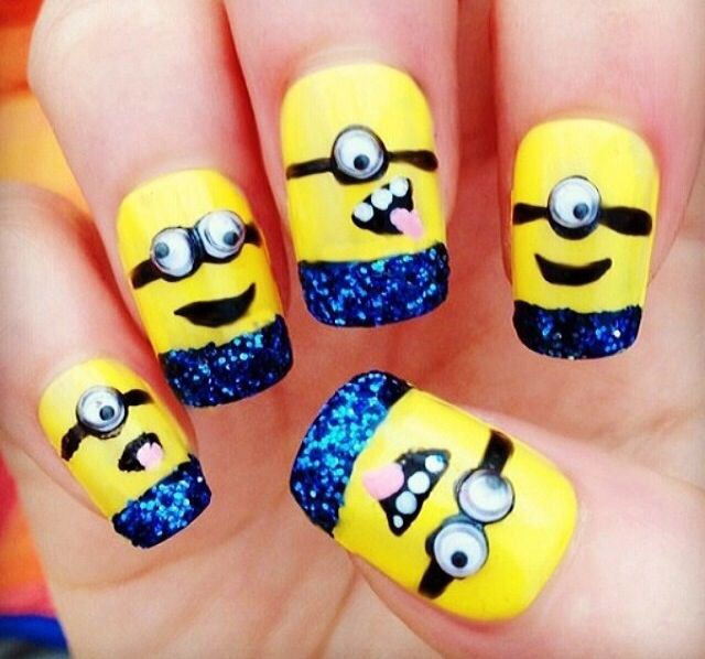 Minions!!! | Mad about Minions<3 | Pinterest | Diseños para uñas ...