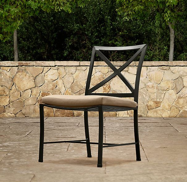 carmel side chair painted metal dining chairs restoration rh pinterest com