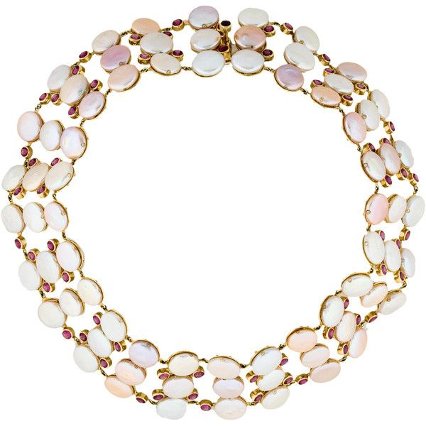 Laura Munder Pearl, Tourmaline and Diamond Choker Necklace ($5,450) ❤ liked on Polyvore featuring jewelry, necklaces, 18k necklace, pearl necklace, pearl diamond necklace, multiple strand pearl necklace and diamond jewelry
