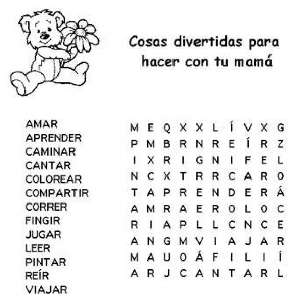 Free Printable Word Search For Mothers Day Mothers Day Word Search Puzzle To Print Free Puzz Free Printable Word Searches Spanish Mothers Day Mothers Day Cards