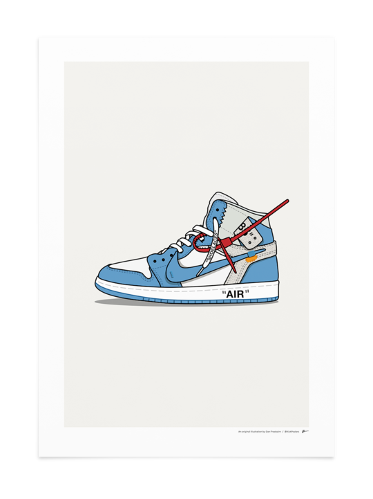 Off White Jordan 1 Unc Papel De Empapelar Nike Jordan Blancas
