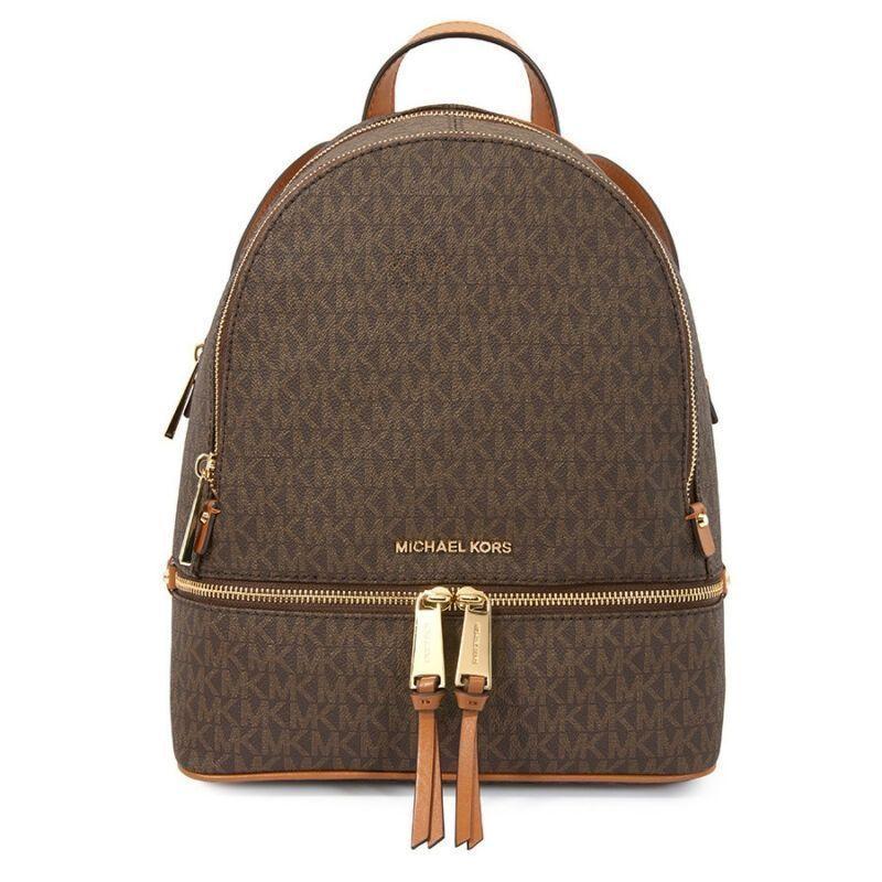 faf266a60056 US $199.99-Michael Kors Rhea Medium Logo Print Backpack - Brown  30S7GEZB1B-200