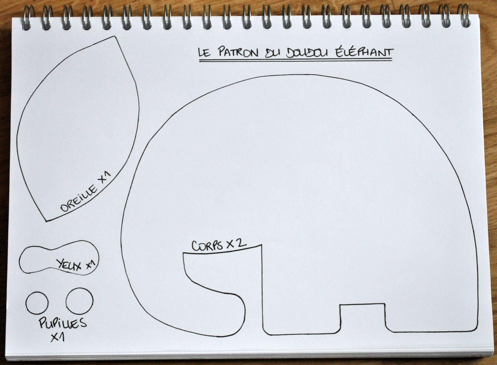 Extrêmement Funky Sunday: DIY: Le patron gratuit du doudou éléphant [tuto  WB34