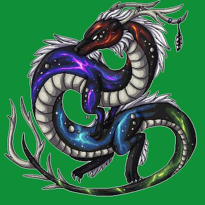 :CO: Rainbow nebula dragon pixel by DodoIcons.deviantart ...