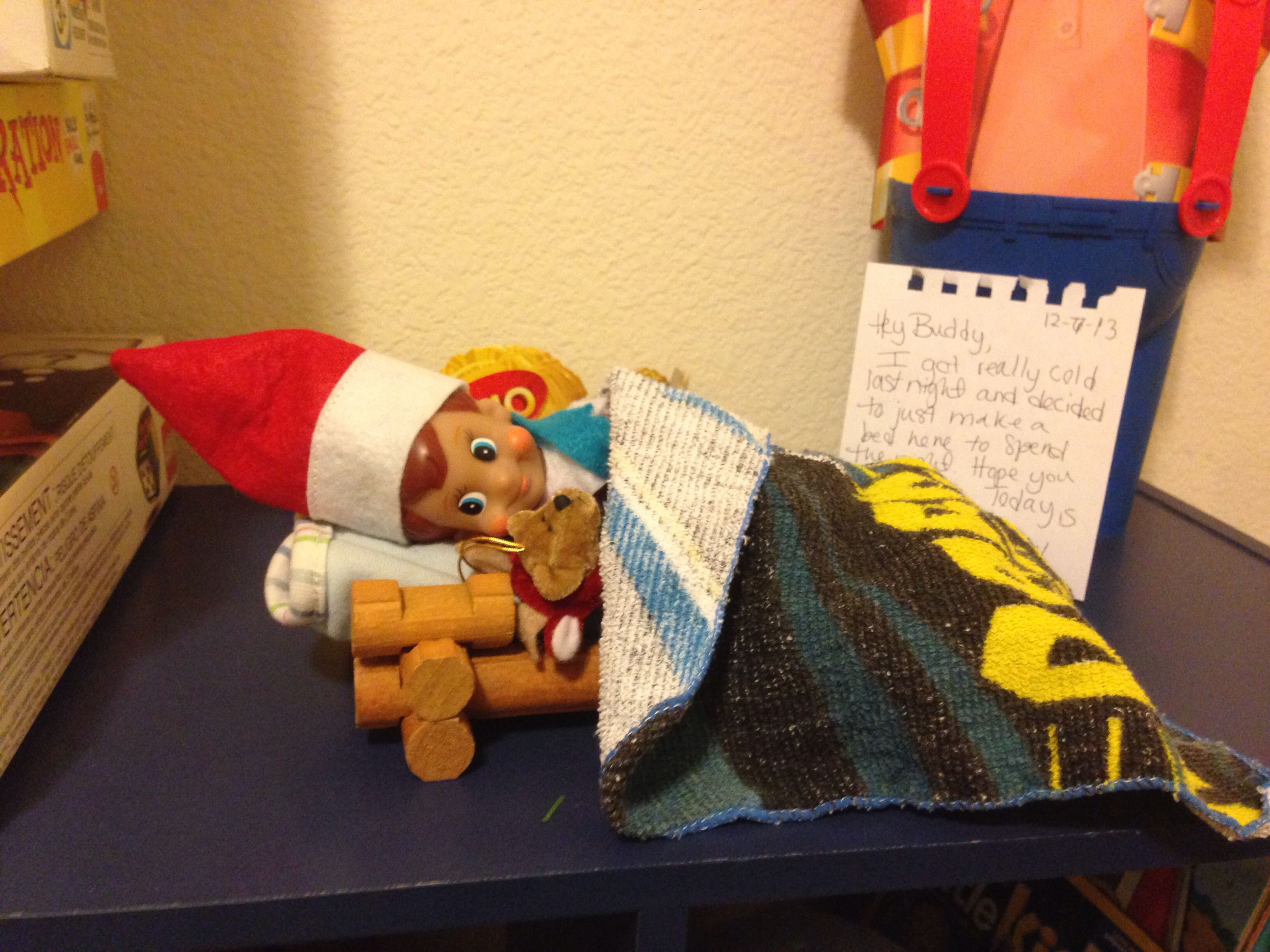 Elfie Needed A Bed For The Night D A Teddy Bear To