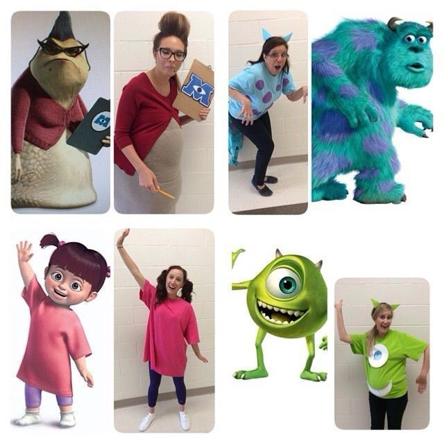 Monsters Inc Group Costumes Group Halloweendisney Halloweenhalloween Cost Halloween Costume Monster Halloween Costumes Friends Monsters Inc Halloween Costumes