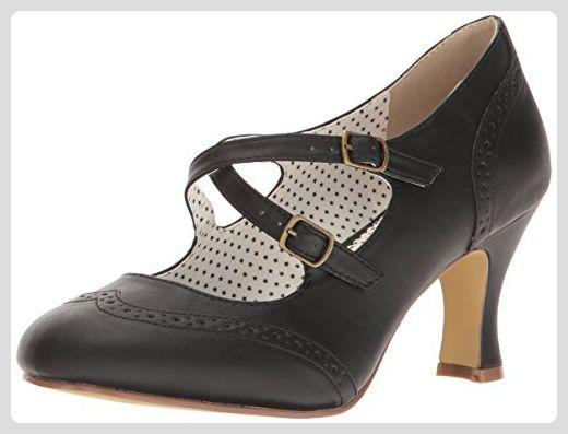 sale retailer 5a1b7 390e3 Pinup Couture Damen Flapper-35 Pumps, Schwarz (Blk Faux ...