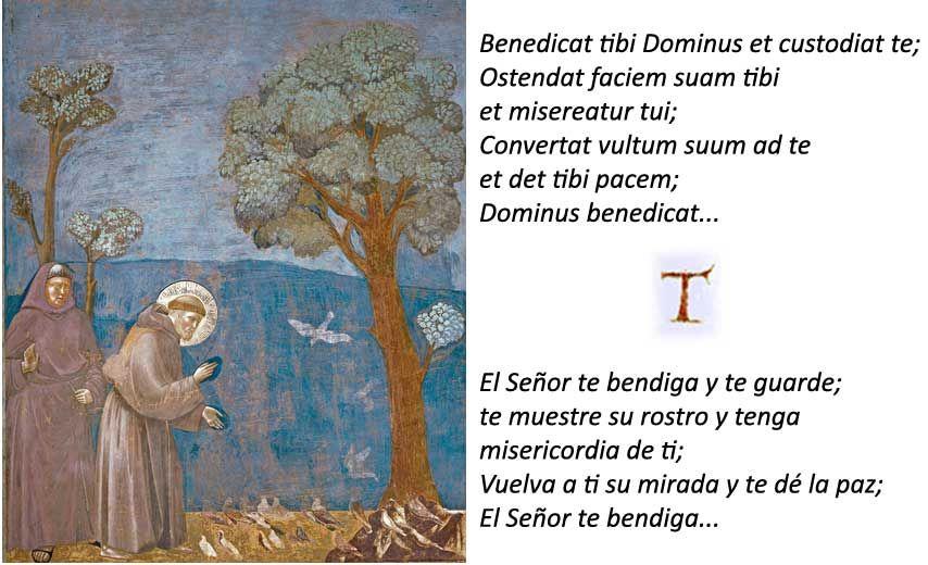 Bendición al Hermano León Francisco de Asis