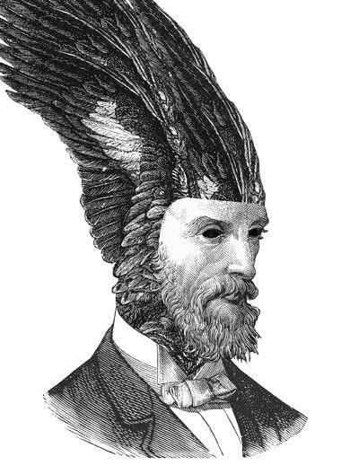Artist Dan Hillier - Victorian portraits with organic, fantastical headdresses.