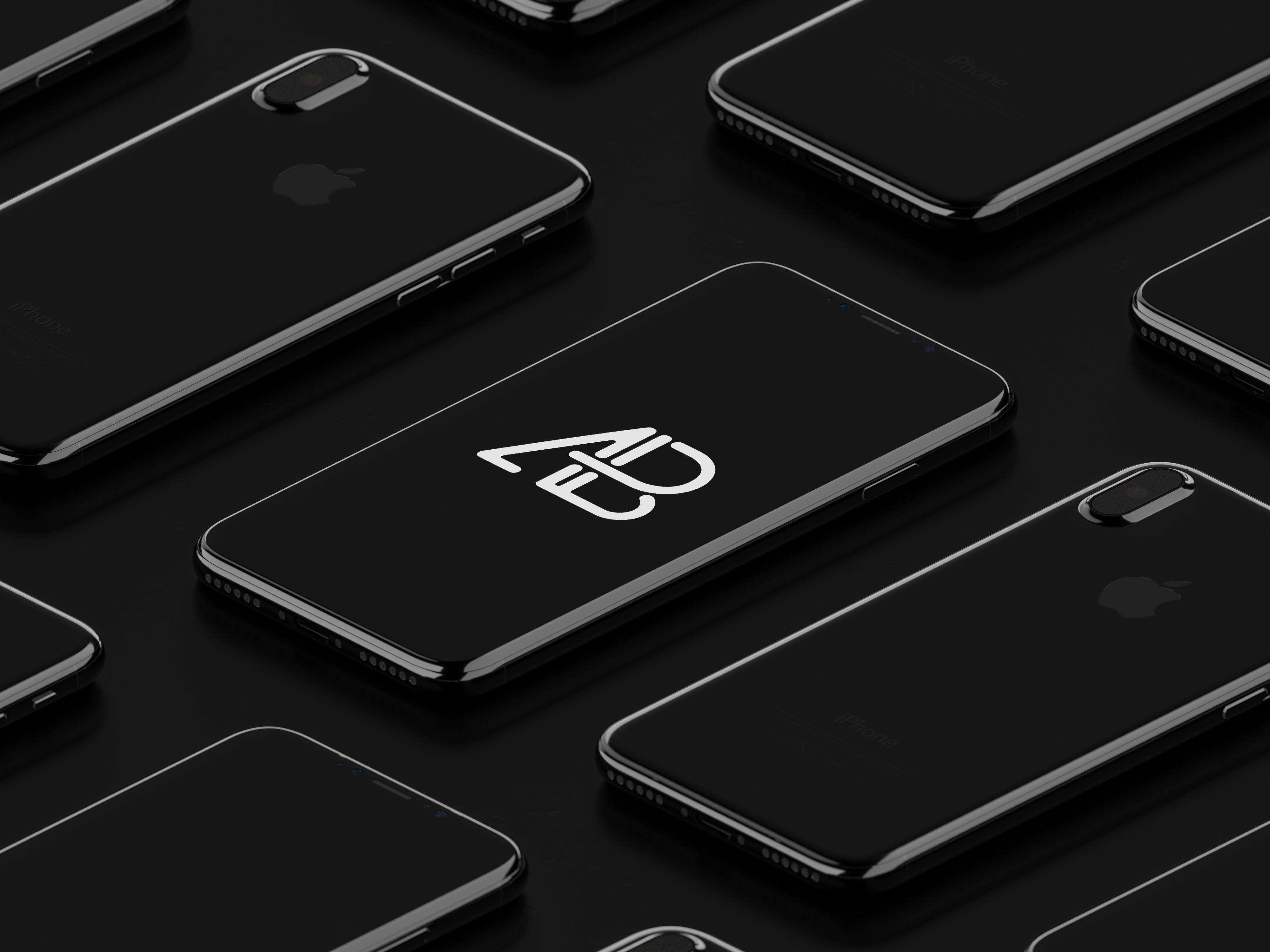 Download Isometric Iphone X Mockup Vol 2 Iphone Iphone Mockup Iphone Psd