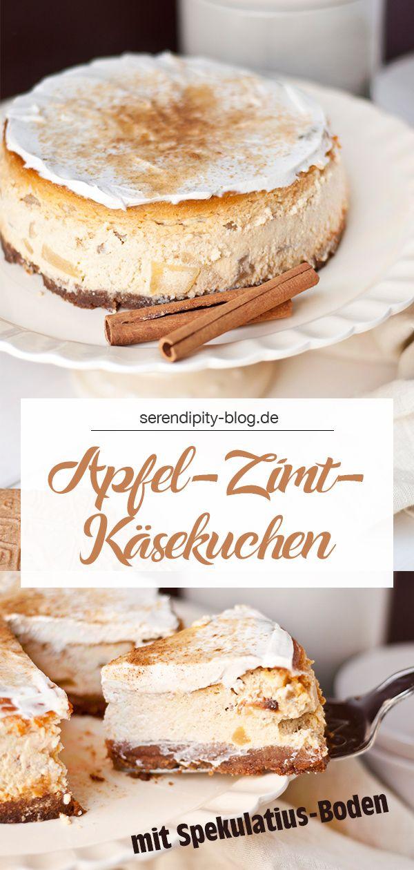 REZEPT :: Apfel-Zimt-Käsekuchen mit Spekulatiusboden #falldrinks