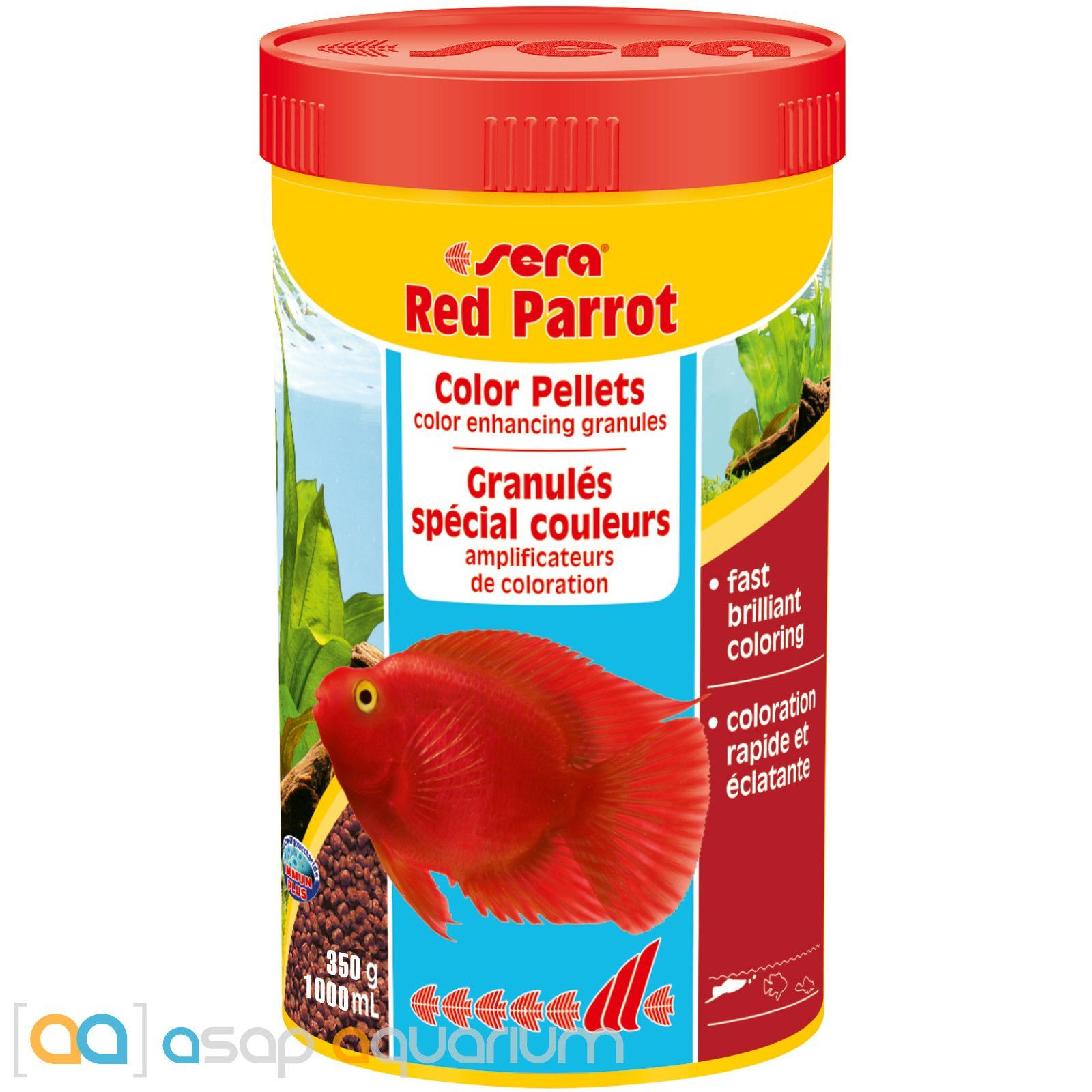 Sera Red Parrot Special granulate for parrot cichlids 1000ml / 330g ...