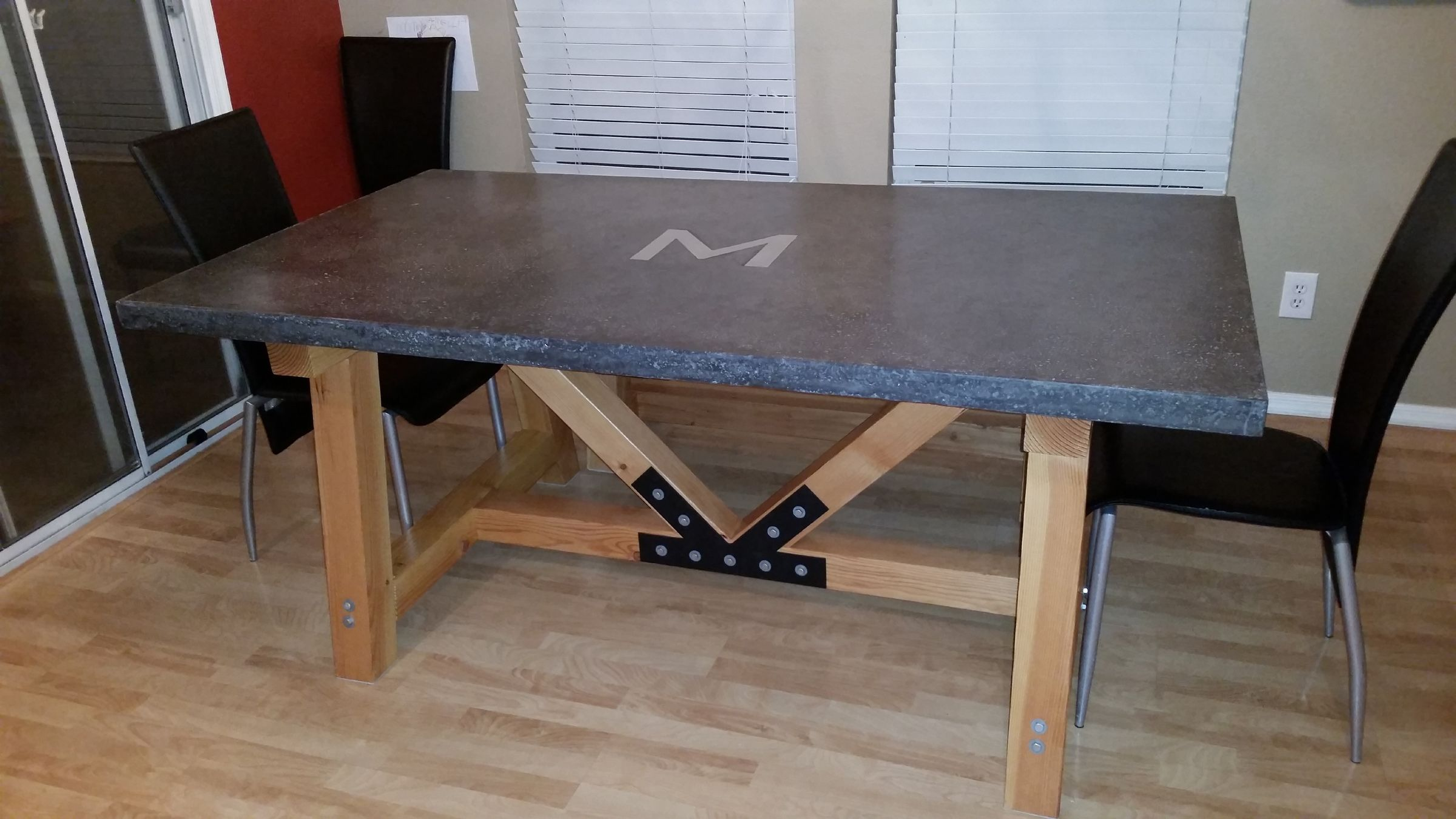 Concrete Table Top Awesome Concrete Table Top Dining Room Tutorials