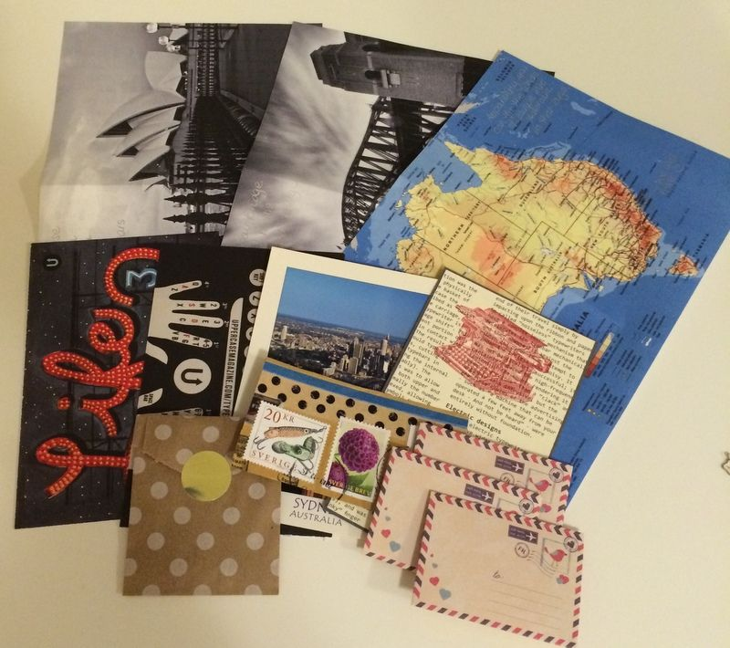 #outgoingmail for a #penpal by #bellajstyle www.bellajstyle.etsy.com #handwrittenletters #handmadestationery #postcards #stickers #airmail #sendmoremail #letter #showandmail #stamps