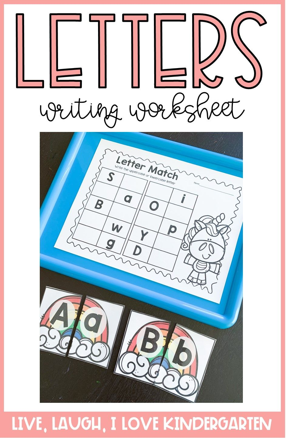 Letter Match Writing Letter Matching Literacy Activities Kindergarten Letter Writing Worksheets [ 1444 x 942 Pixel ]