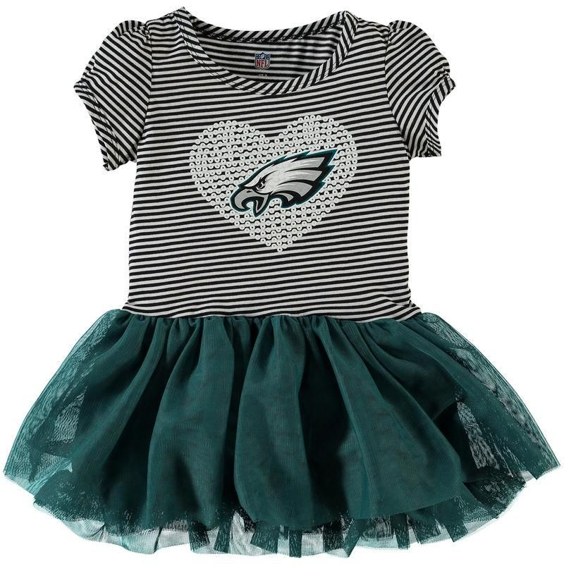 da143b965 Fanatics.com - Outerstuff Philadelphia Eagles Girls Toddler Celebration  Tutu Sequins Dress - Midnight Green White - AdoreWe.com
