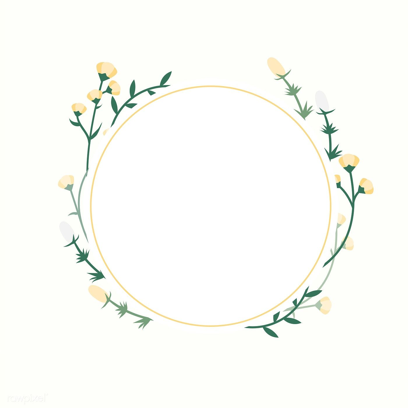 Frame Decorated With Flowers Vector Free Image By Rawpixel Com
