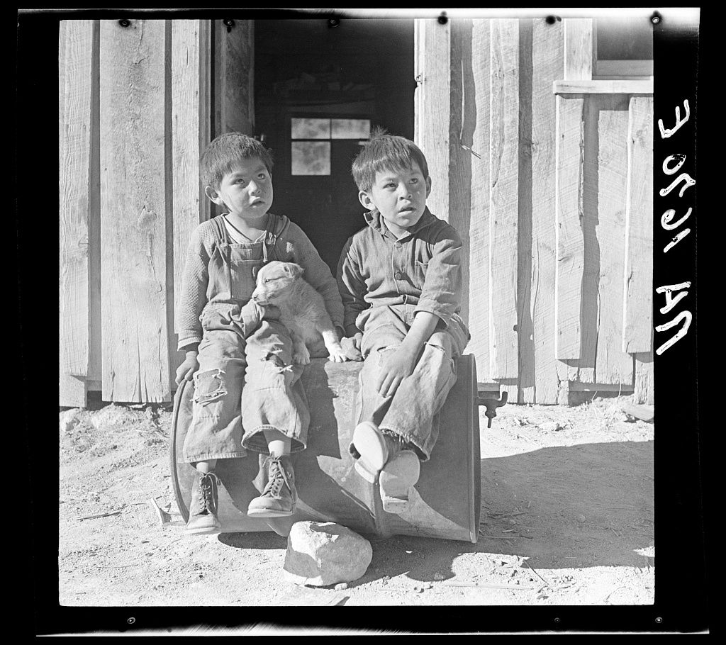 Indian Children Mescalero Reservation New Mexico