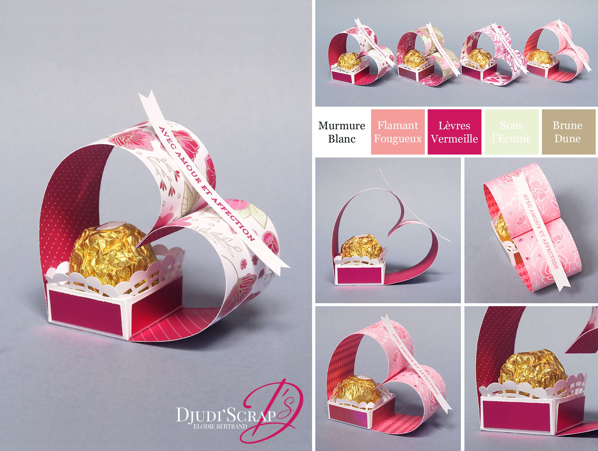 Tutoriel Petits Cadeaux Saint Valentin Coeur Ferrero Rocher «Papier De Tout Mon Coeur» #papiercadeau