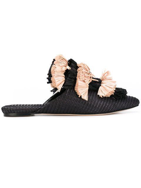 Sanayi 313 zapatos slippers Anetta - Negro farfetch el-beige BgKv0VE