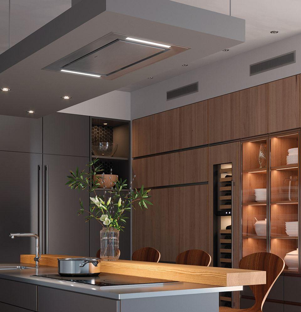 36 Ceiling Mounted Hood Stainless Steel Custom Kitchens