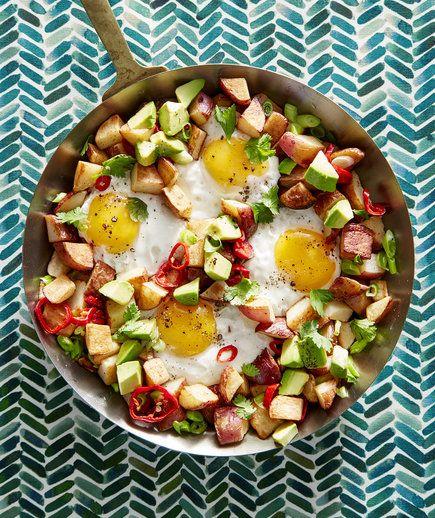 Recetas Clic: Papas, huevo, Y aguacate picado