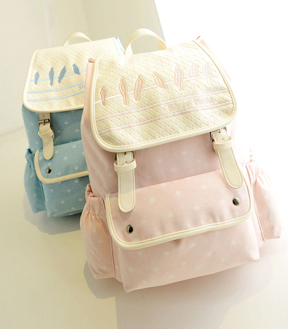 Fashion students sweet canvas backpack