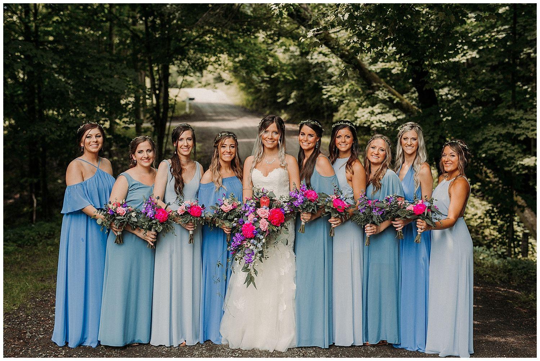 Holland Mi Wedding Venue Bride And Bridesmaids Colorful Bridal Bouquets Michiganweddin Colorful Bridal Bouquet Michigan Wedding Venues Wedding Event Space