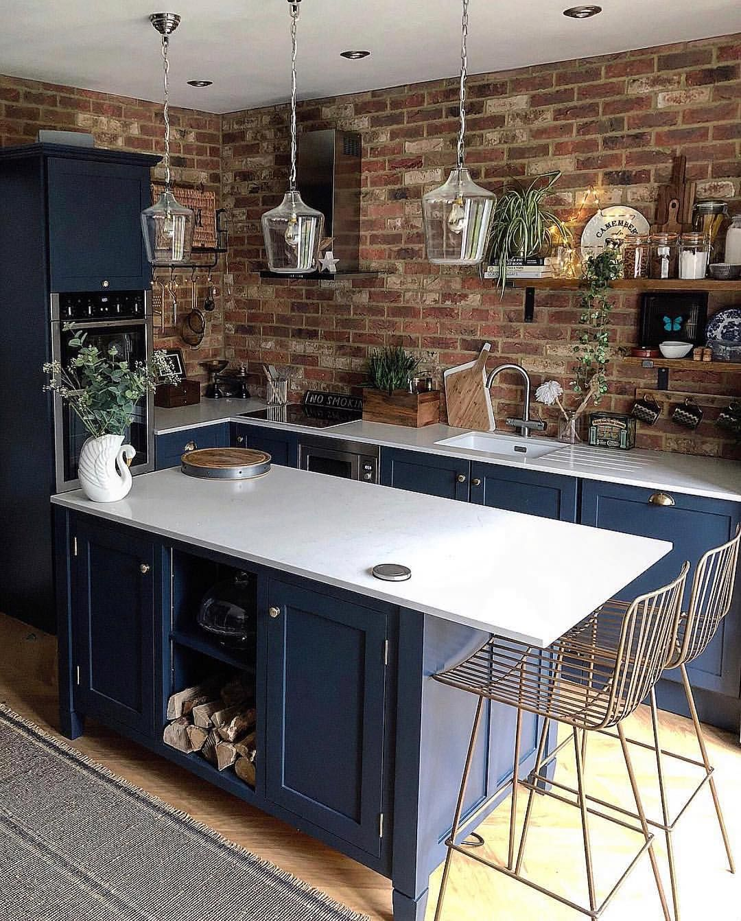 Brown and Blue Kitchen Ideas – Home Decor Bliss