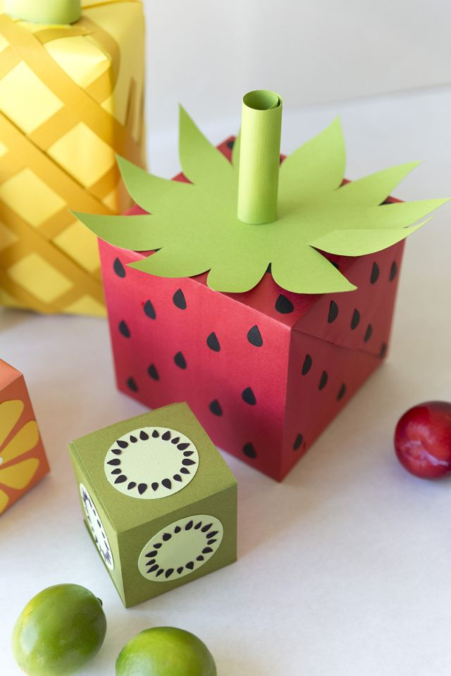 Fruit wrapping paper Regalitos, Envoltura de regalos y Cajas