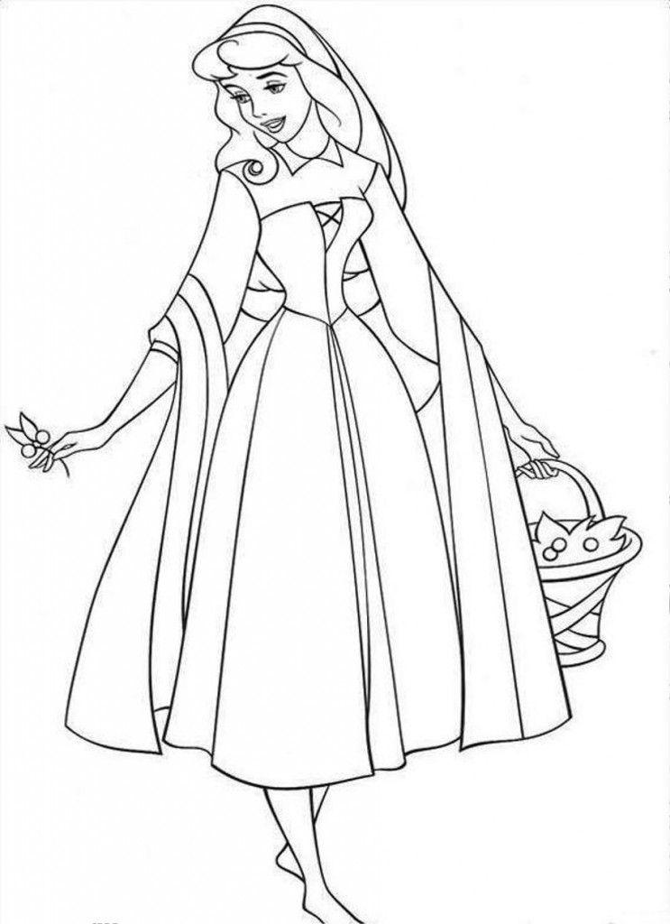 Free Printable Sleeping Beauty Coloring Pages For Kids Sleeping