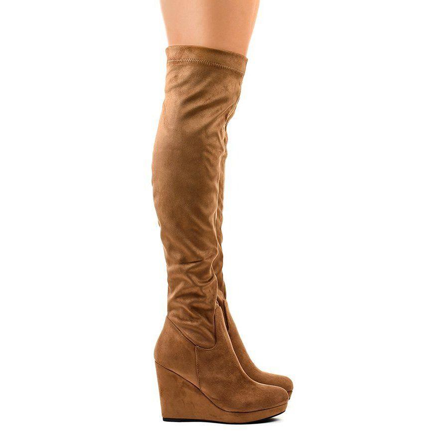 Boots Women S Butymodne Brown Knee Boots 6598 1 Brown Knee Boots Knee Boots Boots