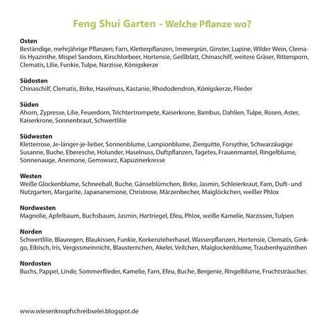 Feng Shui Im Garten wiesenknopfschreibselei feng shui im garten gartengestaltung
