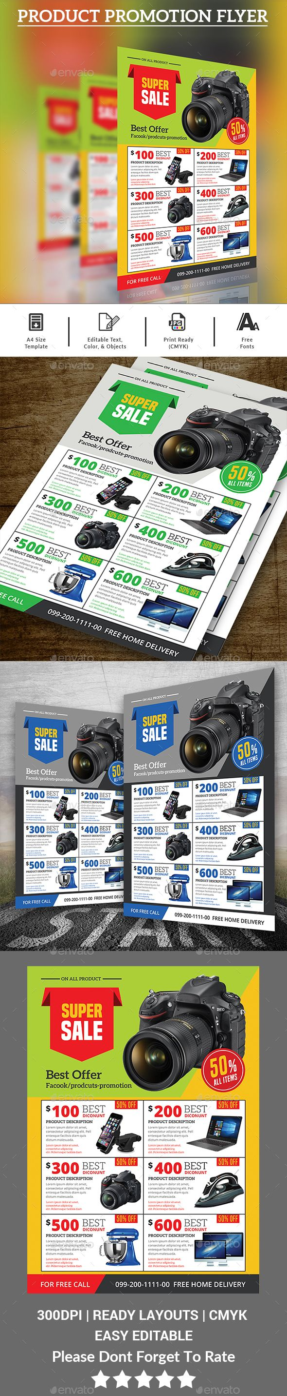 Product Flyer  Flyer Template Template And Font Logo