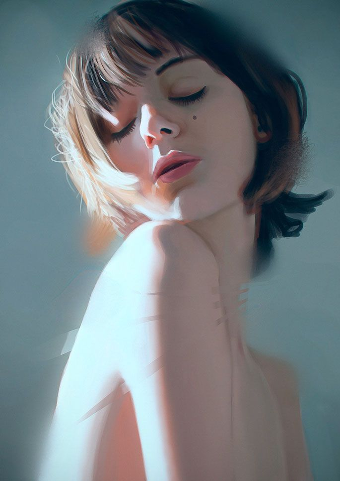 50 Breathtaking Digital Painting Portraits   Painting portraits ...
