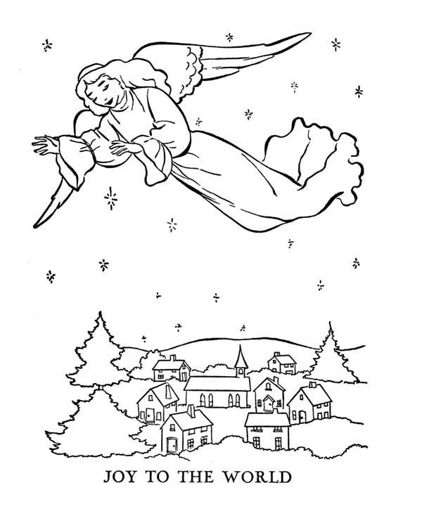 Gabriel Sprean Joy To The World Bible Christmas Story Coloring Pages Best Place To Color Christmas Bible Christmas Pictures To Color Coloring Pages