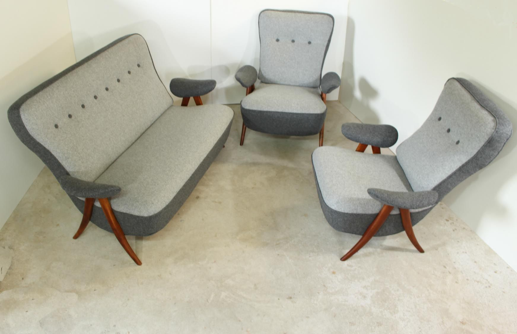Theo Ruth Rare Seating Group Vintage Sixties