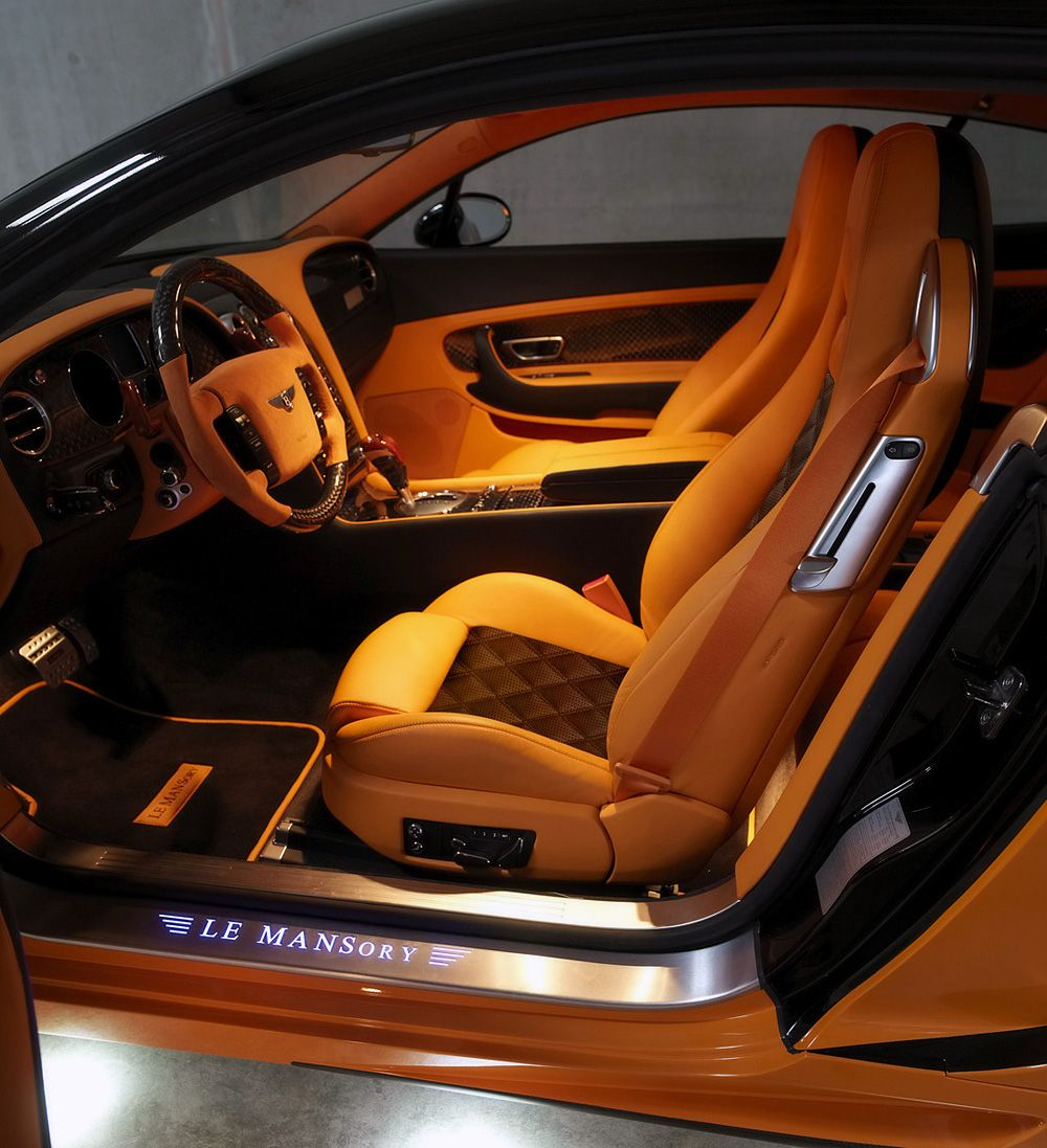 Le Mansory Bentley Continental Gt 2008 Custom Orange And Brown