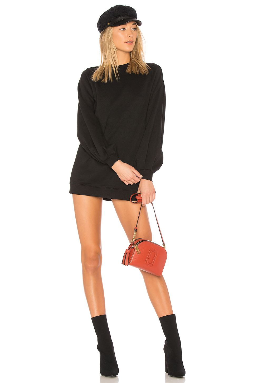 Jessa Sweatshirt Dress in Gray. - size M (also in L,S) Lovers + Friends
