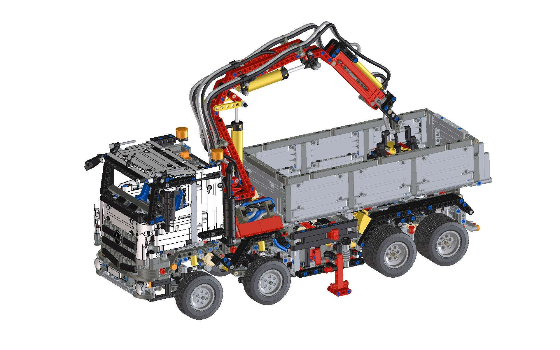 Lego technic arocs 42043 step iges ptc creo elements for Schreibtisch 3d modell