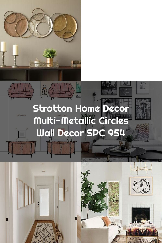 Stratton Home Decor Multi Metallic Circles Wall Decor Spc 954 The Home Depot In 2020 Home Decor Stratton Home Decor Decor