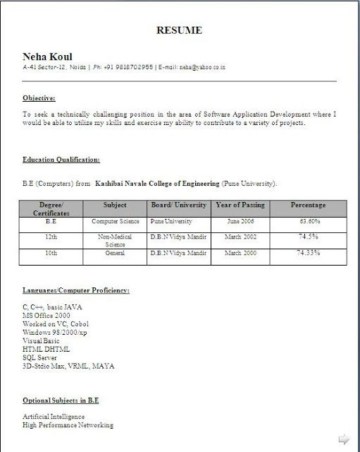 best resume maker free download Sample Template Excellent Curriculum