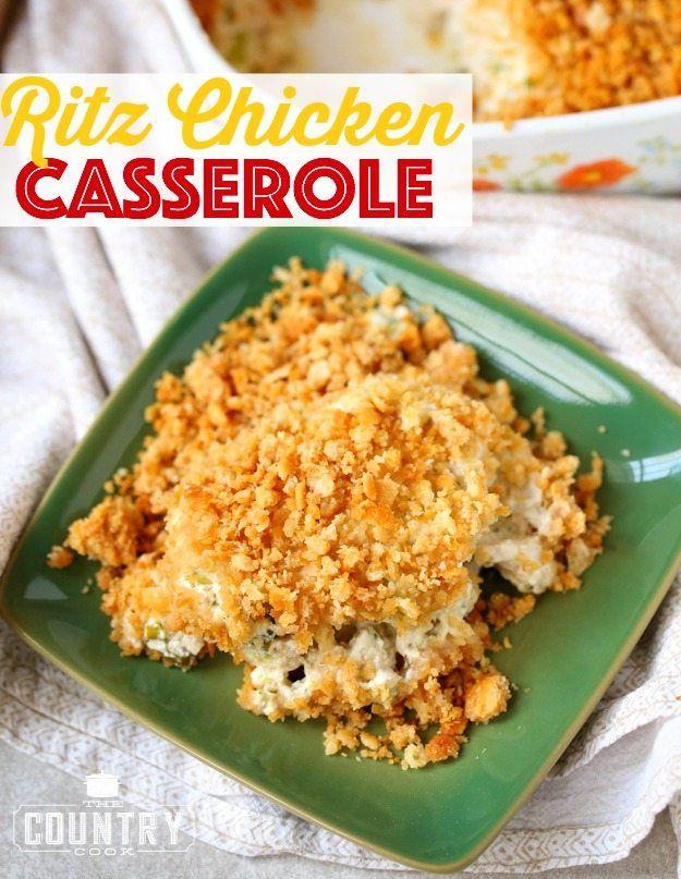 Ritz Chicken Casserole Ritz Chicken Easy Casserole Recipes Chicken Recipes Casserole