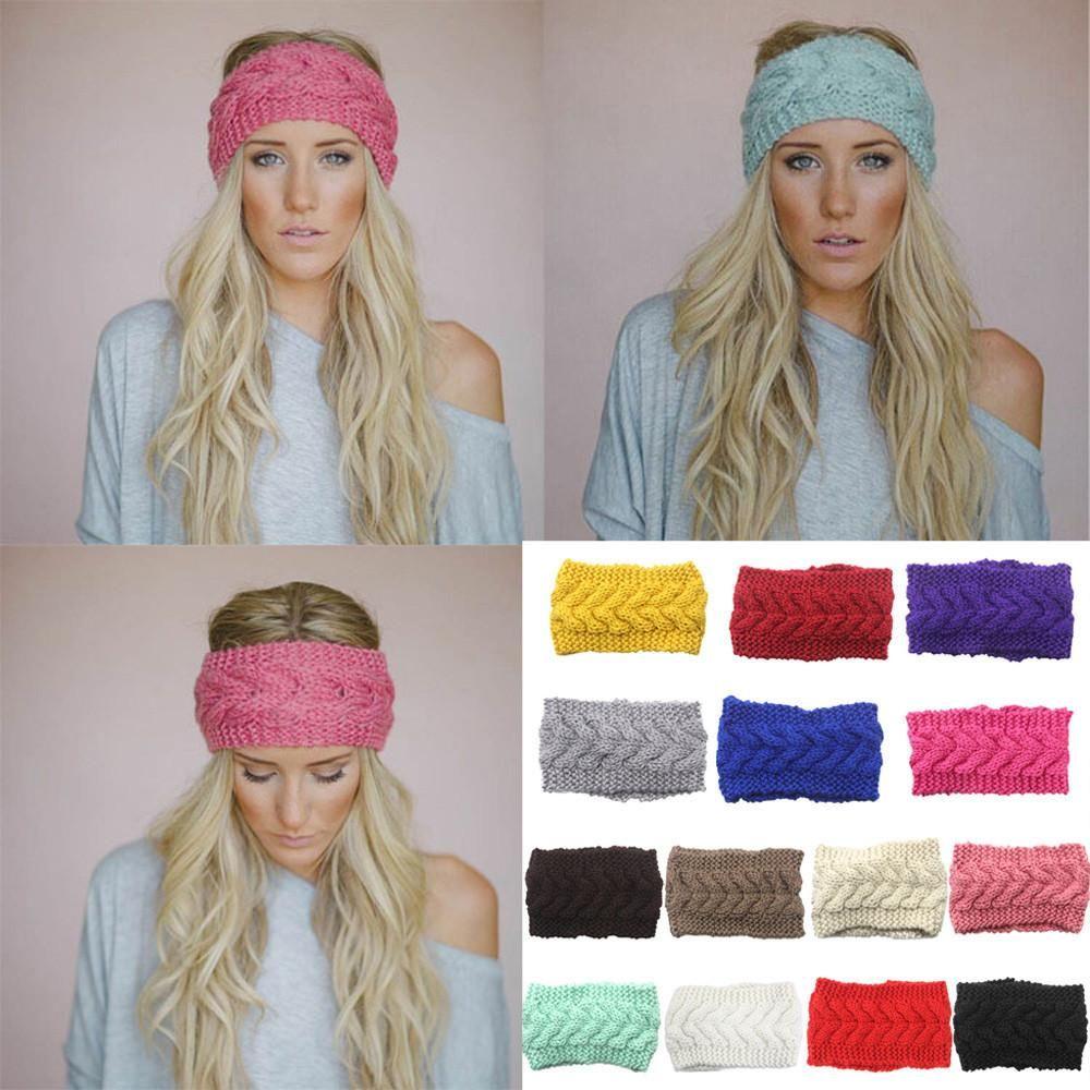 Pick Color Winter Ear Warmer Headband Flower Turban Knit Fashion Women Crochet